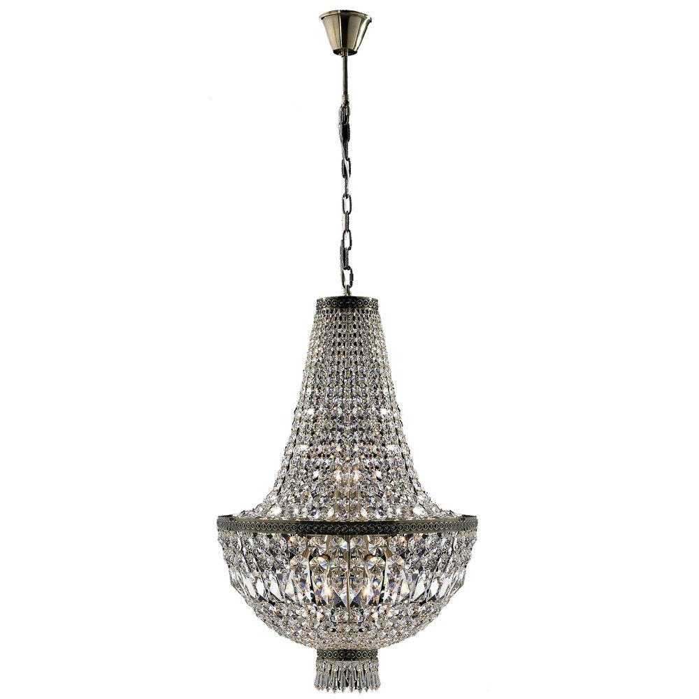 Popular Worldwide Lighting Metropolitan Collection 8 Light Antique Bronze For Bronze And Crystal Chandeliers (View 17 of 20)