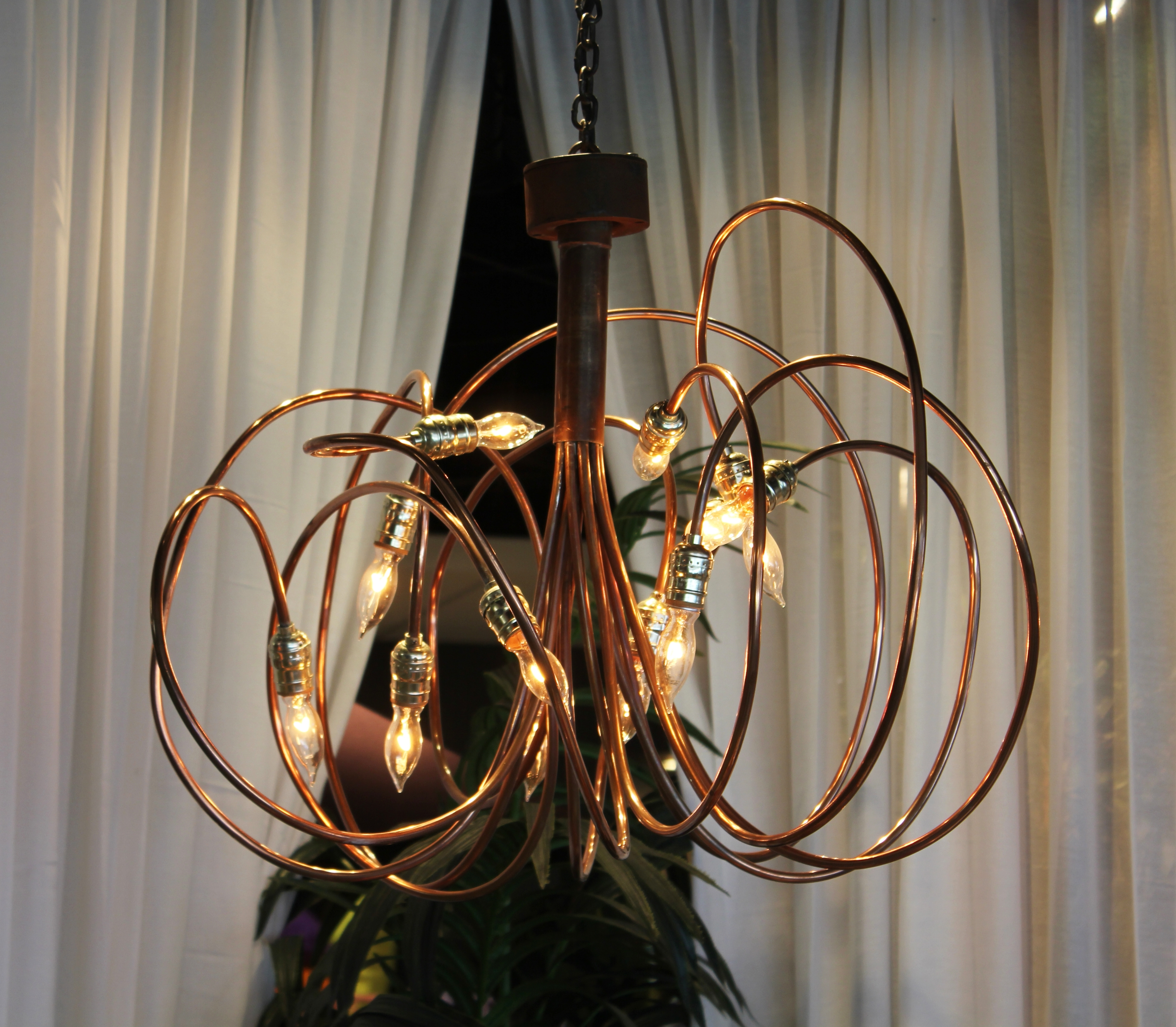 Preferred 3' Copper & Brass Chandelier (View 16 of 20)