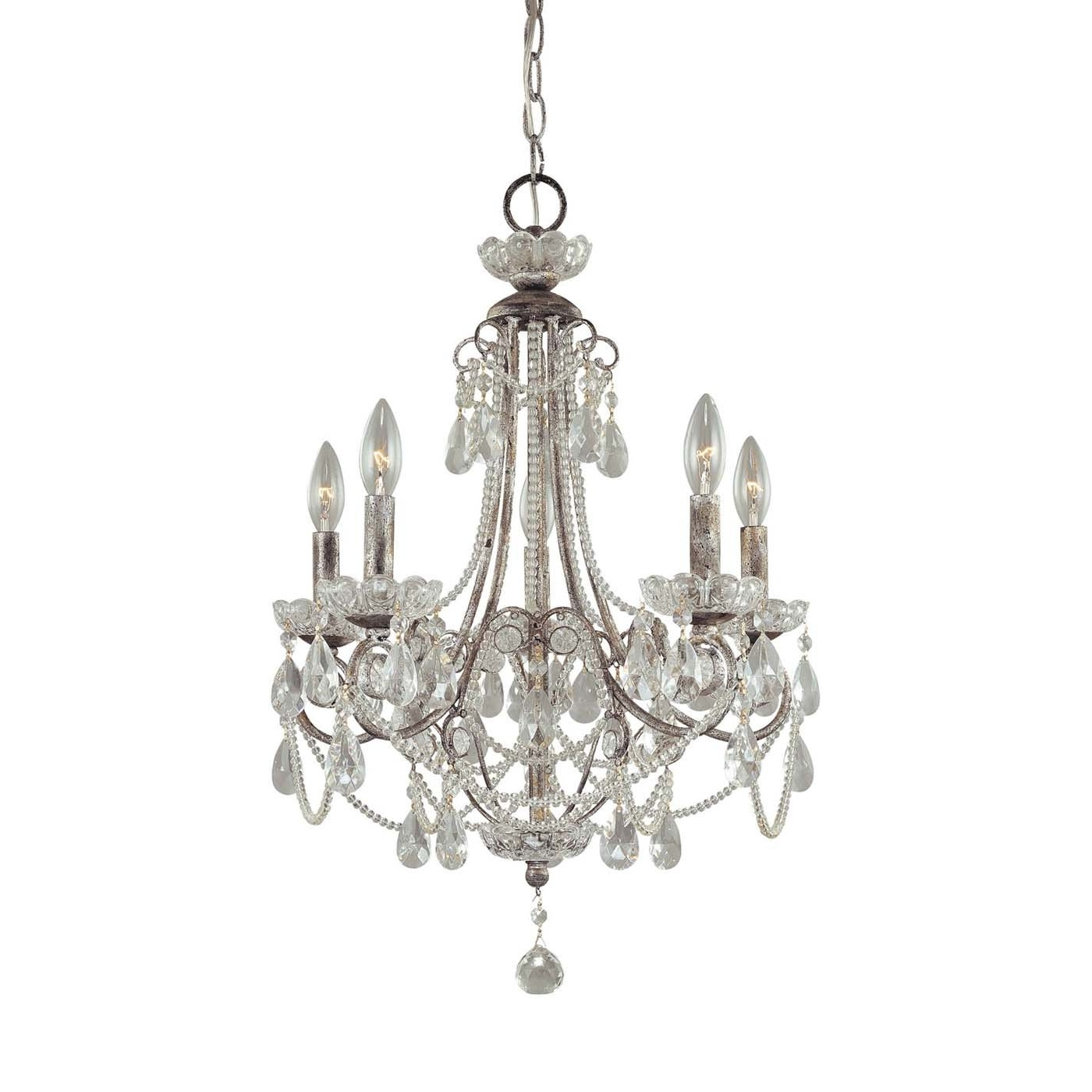 Preferred 4 Light Crystal Chandeliers For Chandelier: Extraordinary Small Chandeliers For Bedrooms Mini (View 12 of 20)