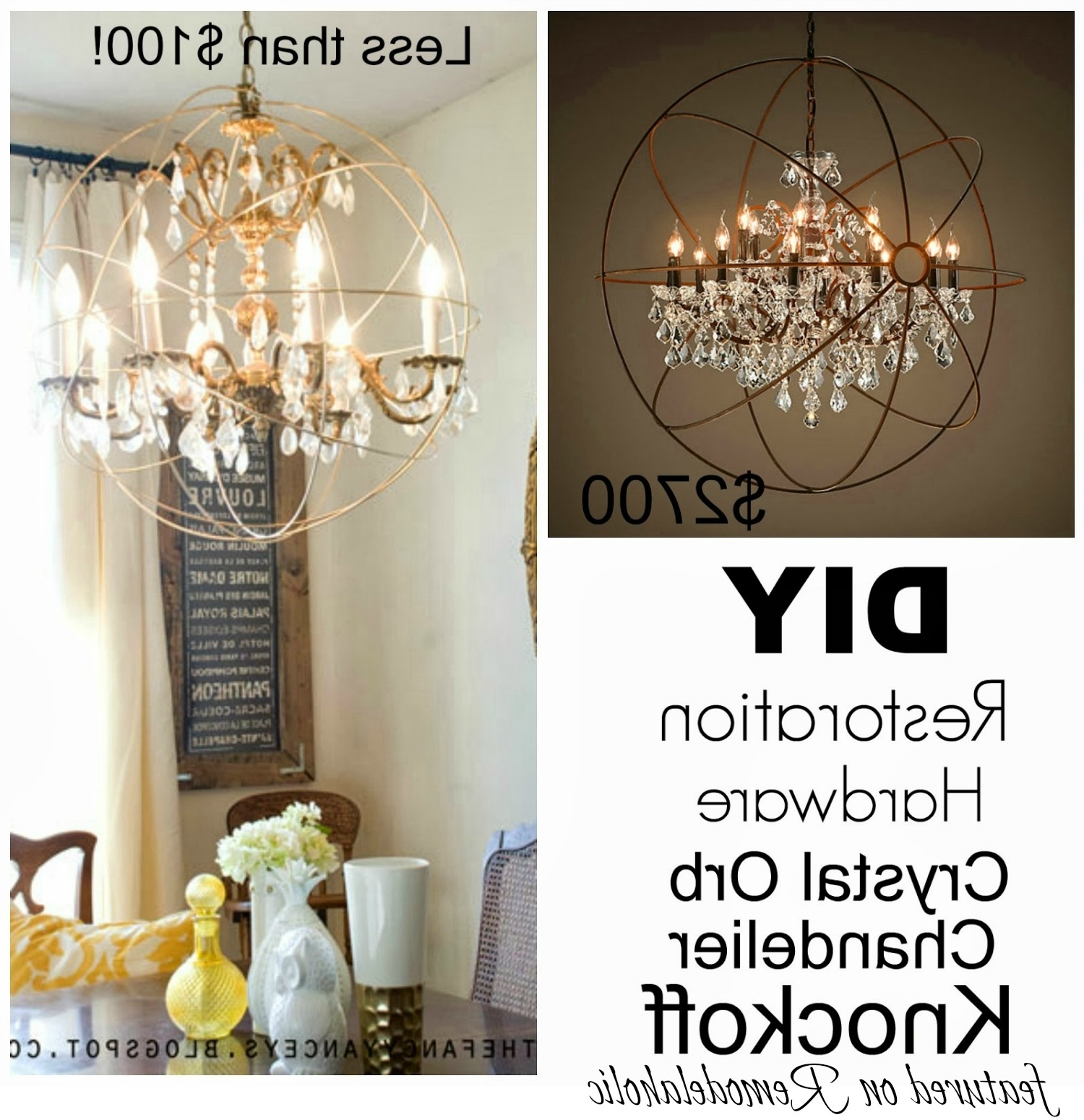 Preferred Best Diy Crystal Chandelier Residence Remodel Suggestion The Happy Inside Faux Crystal Chandeliers (View 15 of 20)