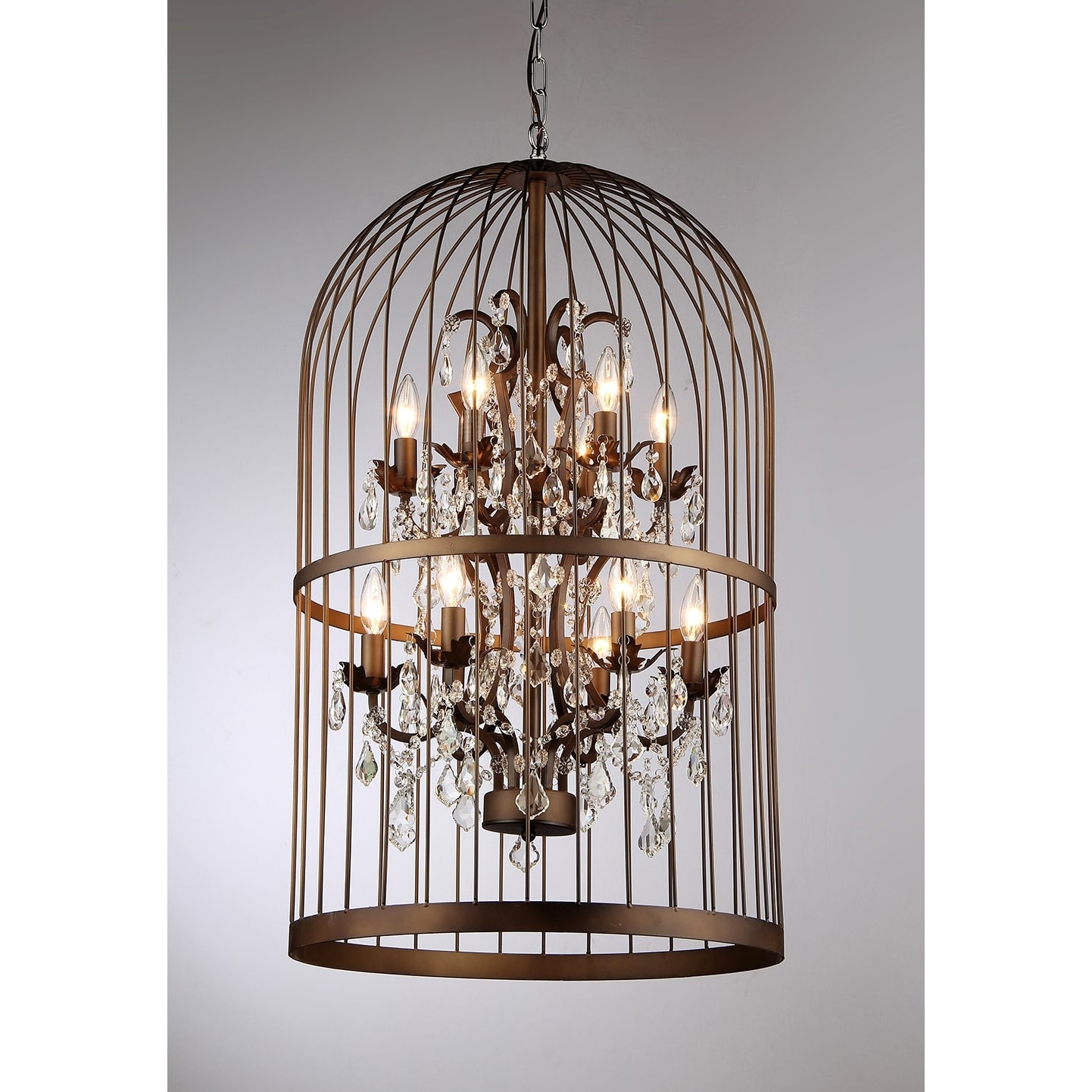 Preferred Caged Chandelier With Warehouse Of Tiffany Rinee Iii Cage Chandelier – Free Shipping Today (View 17 of 20)