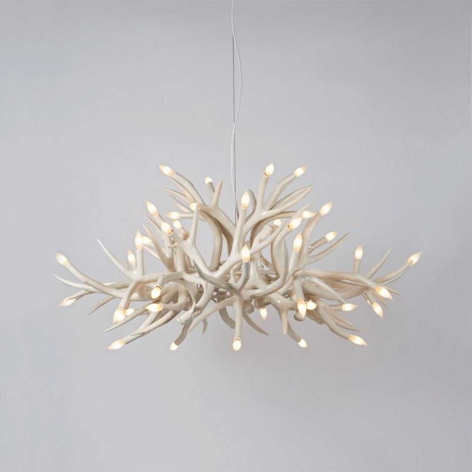 Preferred Chandeliers : Cool Simple Contemporary Antler Chandelier Photos Inside Modern Antler Chandelier (View 15 of 20)