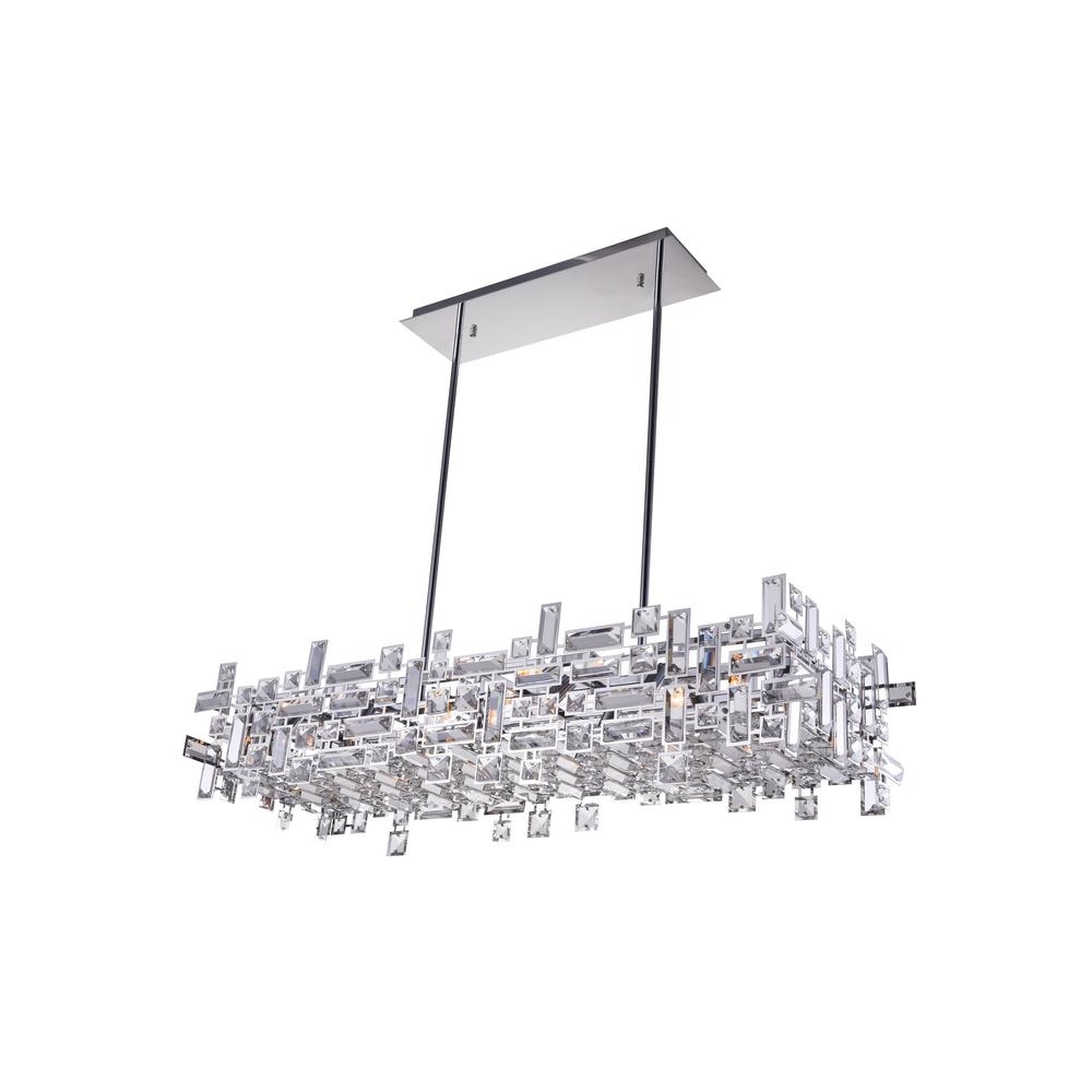 Preferred Chrome Chandeliers Regarding Arley 12 Light Chrome Chandelier 5689P35 12 601 – The Home Depot (View 16 of 20)
