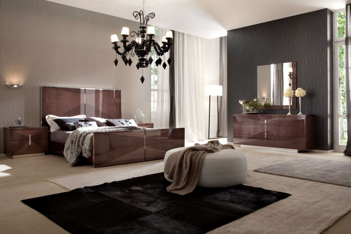 Preferred Classic Black Chandelier Bedroom Furniture In Brown Color For Intended For Black Chandelier Bedroom (View 11 of 20)