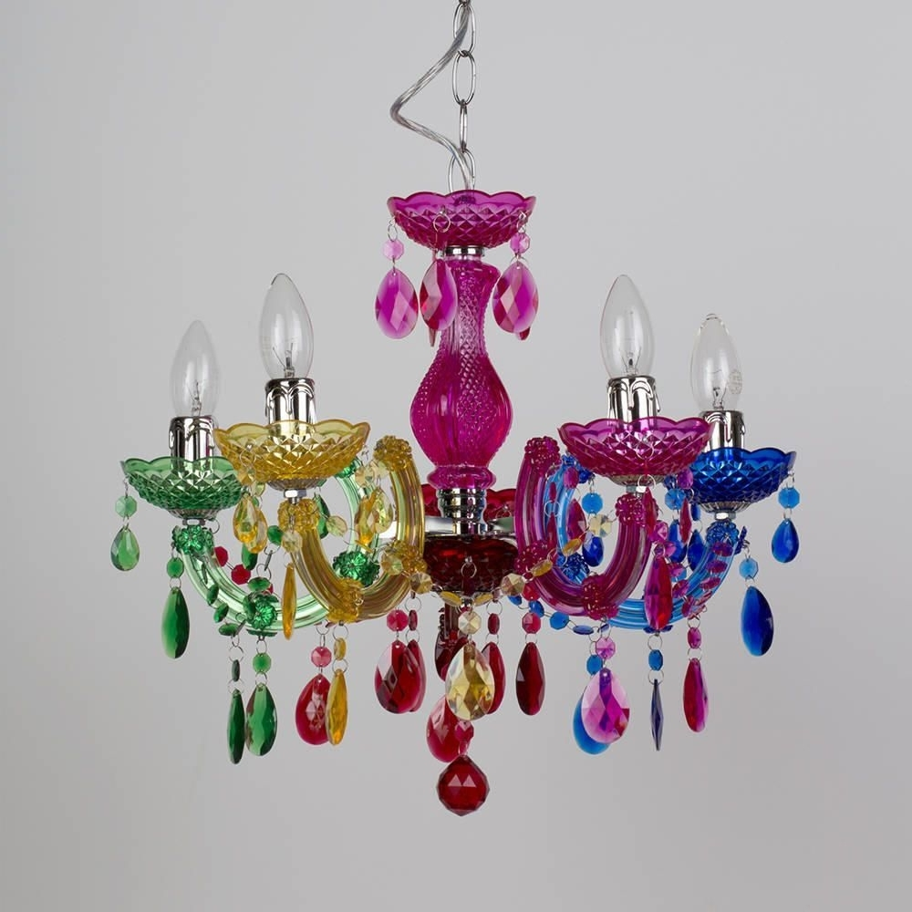 Preferred Colourful Chandeliers For Marie Therese 5 Light Dual Mount Chandelier – Multicoloured (View 5 of 20)