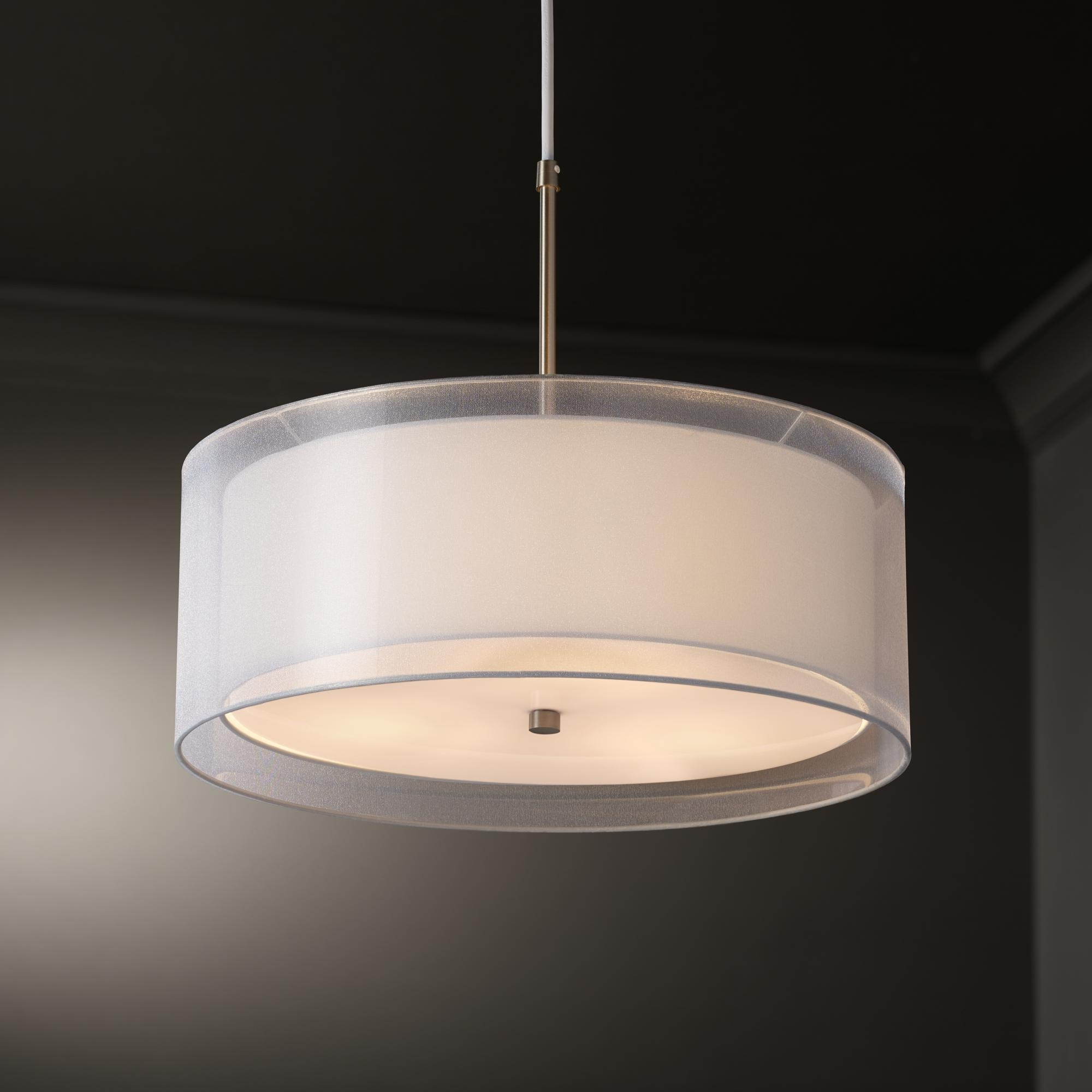 Preferred Drum Lamp Shades For Chandeliers With Lighting: Drum Lamp Shades For Chandeliers And Black Drum Shade (View 16 of 20)