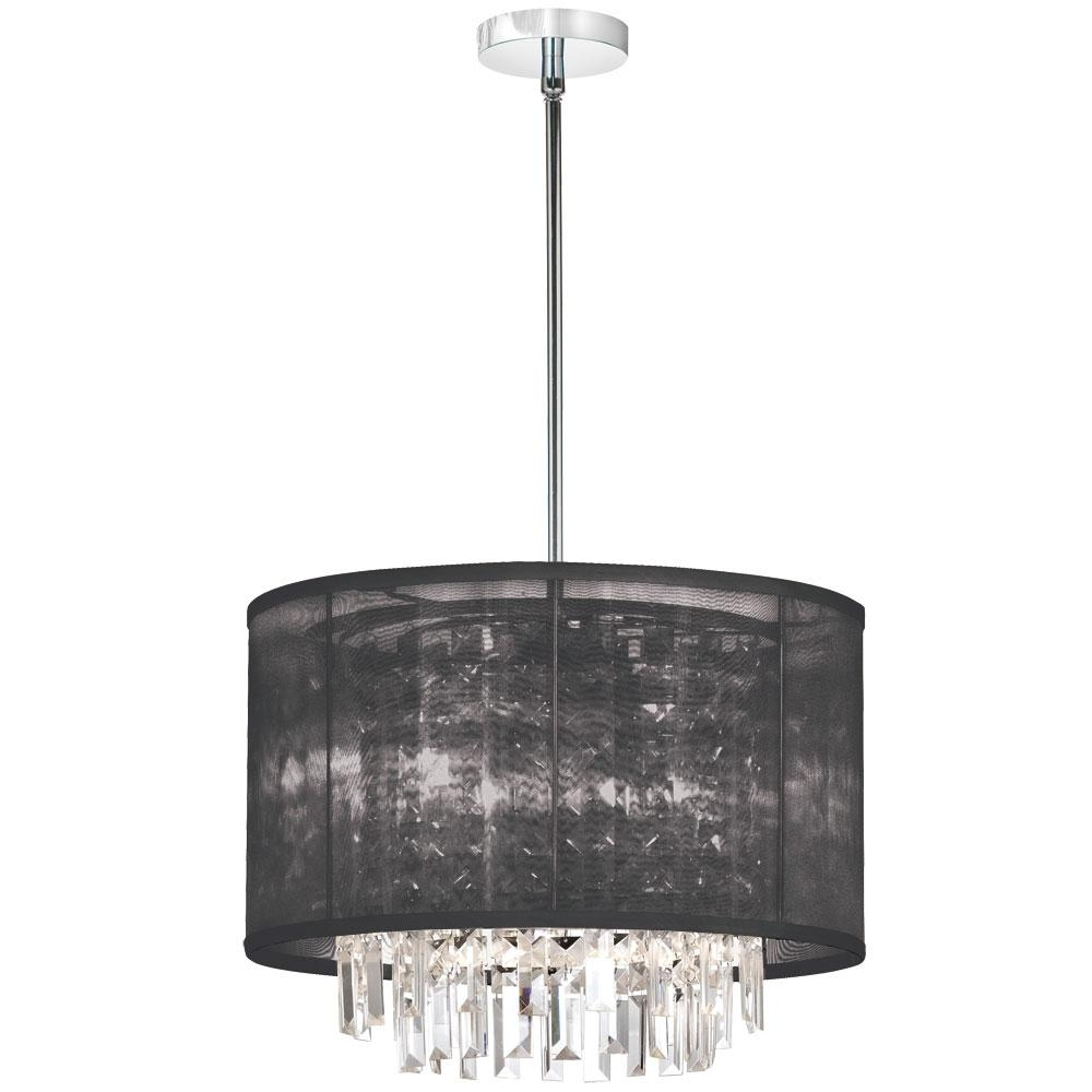 Preferred Drum Shade Chandelier In Different Dining Rooms To Try Stainless Pertaining To Chandeliers With Black Shades (View 17 of 20)