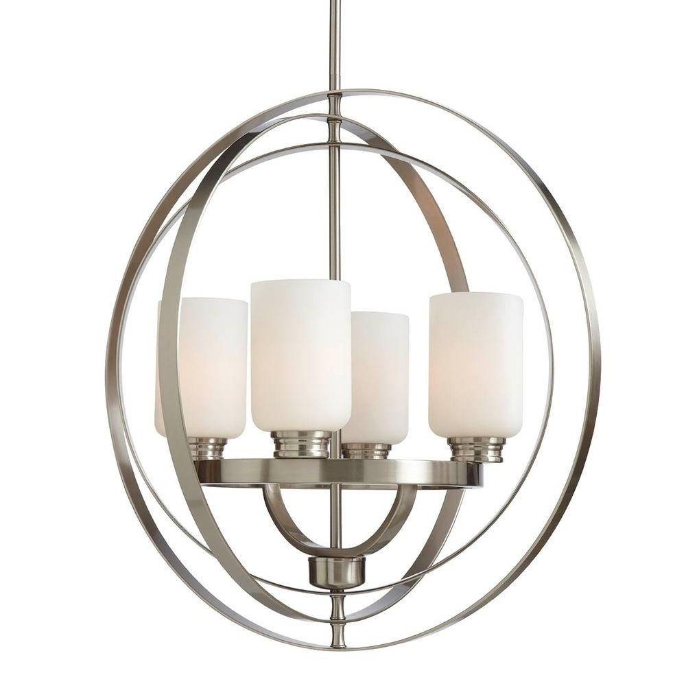Preferred Globe – Chandeliers – Lighting – The Home Depot Pertaining To Orb Chandeliers (View 15 of 20)