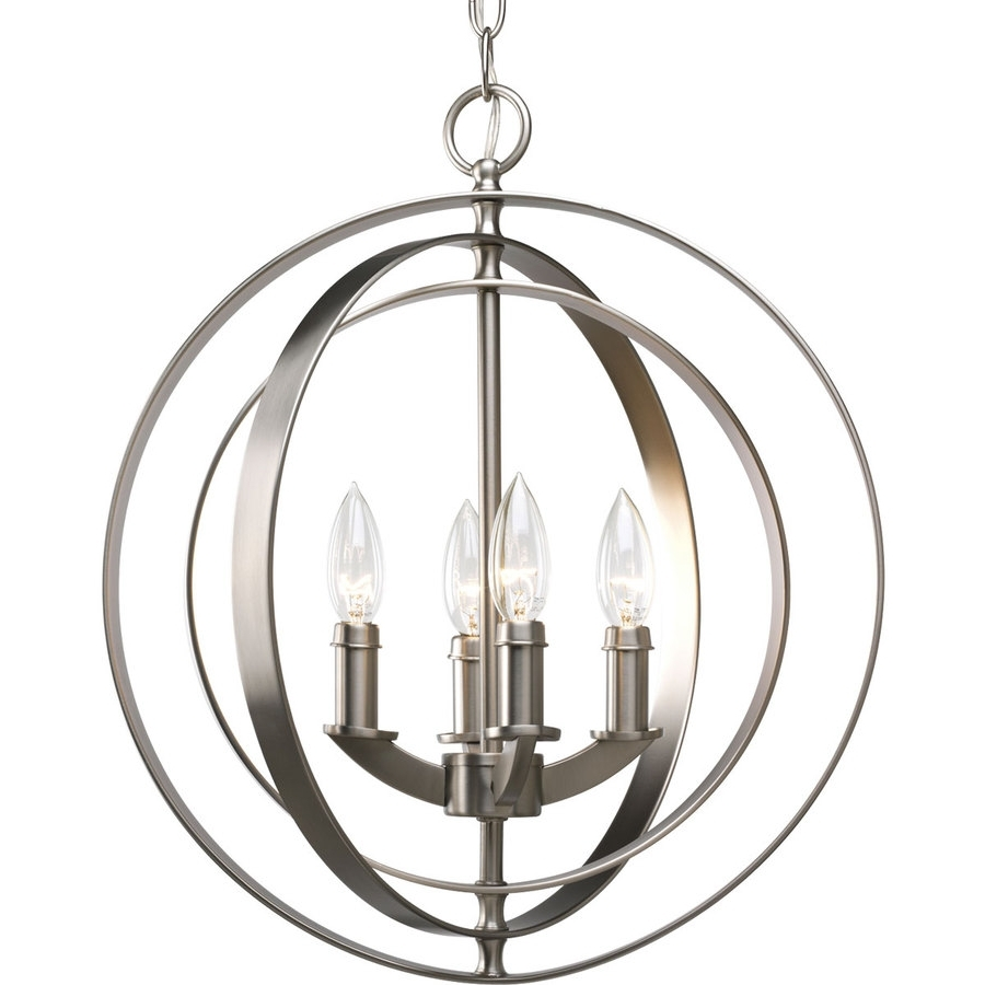Preferred Metal Ball Candle Chandeliers Throughout Shop Globe Pendant Lighting At Lowes (View 16 of 20)
