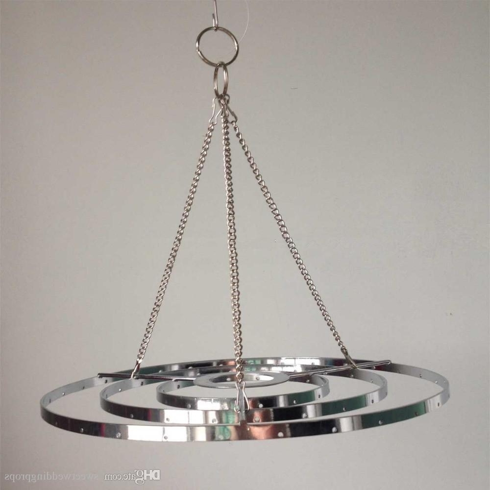 Preferred Metal Chandeliers Throughout Round Wedding&christmas Party Centerpiece Chandelier Frame Metal (View 13 of 20)