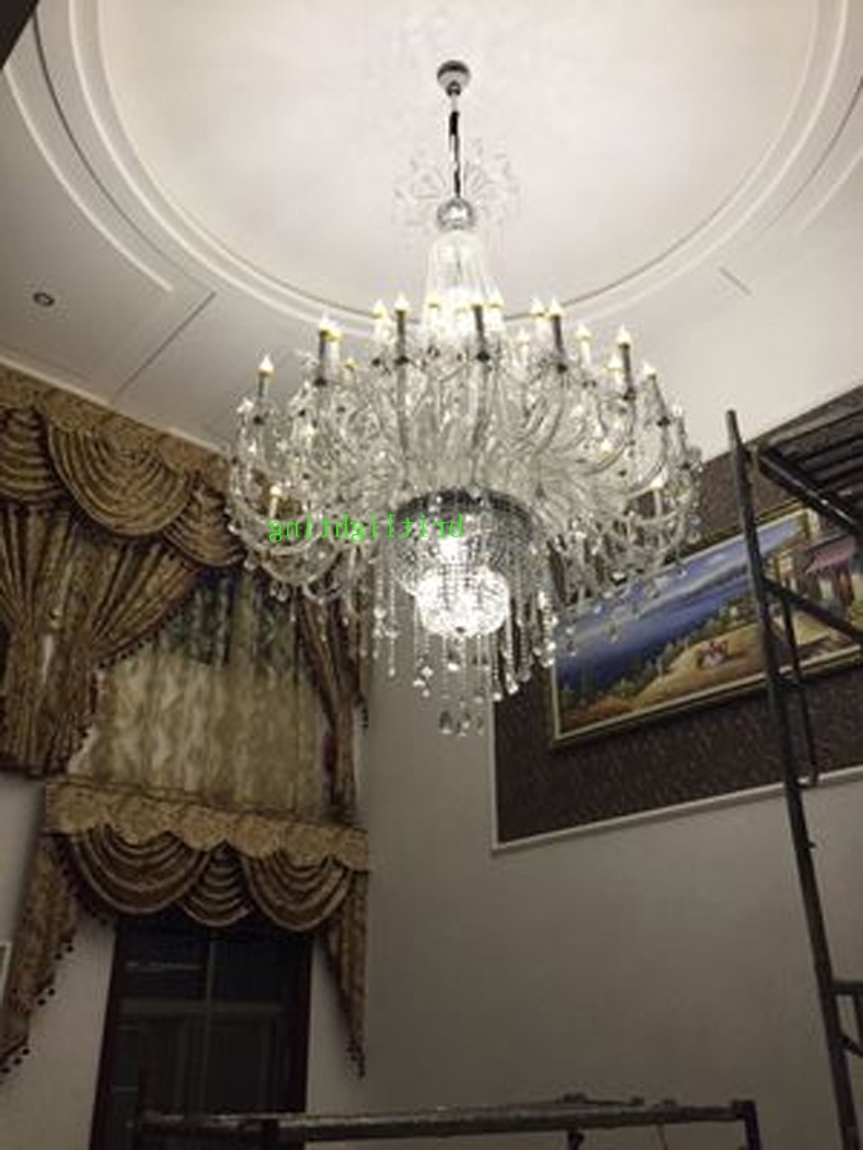 Preferred Modern Large Chandeliers For Chandeliers Design : Fabulous Modern Large Chandeliers Crystal (View 5 of 20)