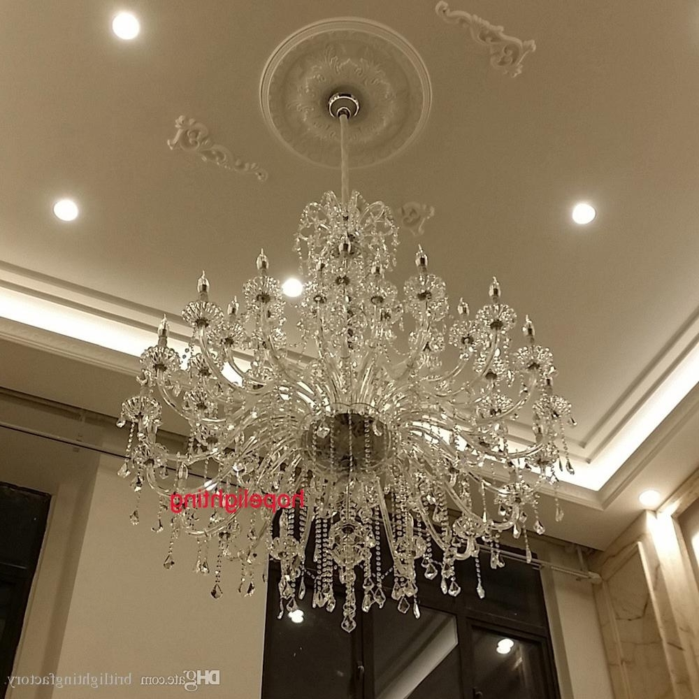 Preferred Modern Large Crystal Chandelier For Foyer Big Crystal Chandelier Within Large Crystal Chandeliers (View 3 of 20)
