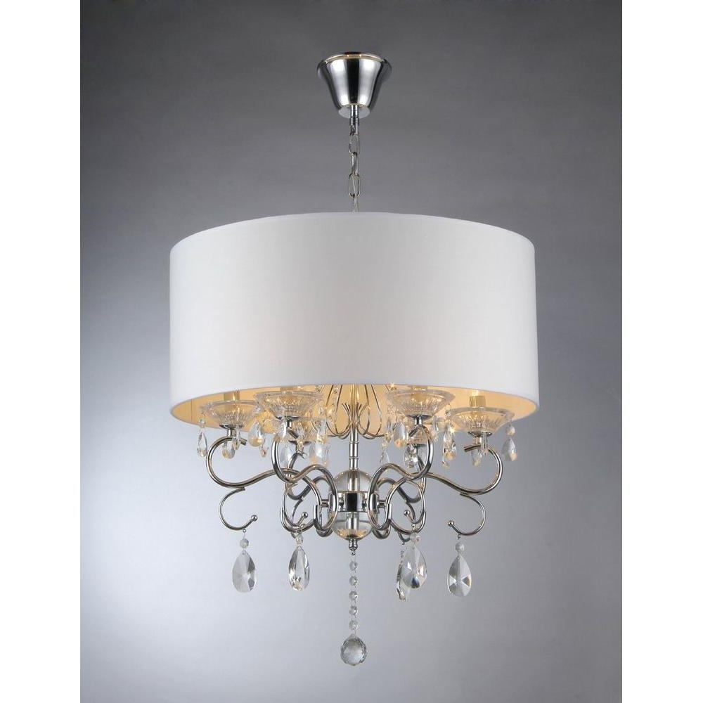 Preferred Warehouse Of Tiffany Camilla 6 Light Chrome Crystal Chandelier With Pertaining To Crystal Chrome Chandelier (View 11 of 20)