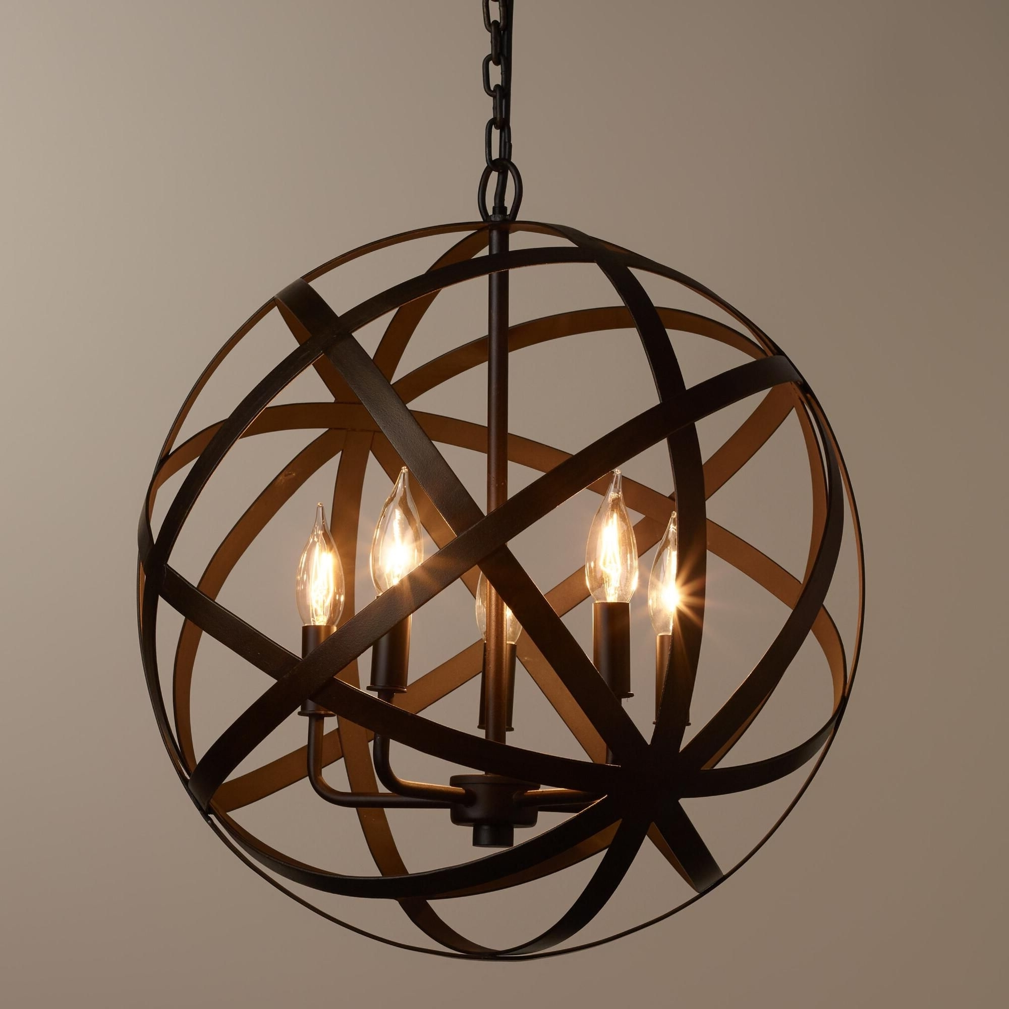 Preferred We're Proud To Present Our Exclusive Metal Orb Chandelier, Finely In Metal Sphere Chandelier (View 1 of 20)
