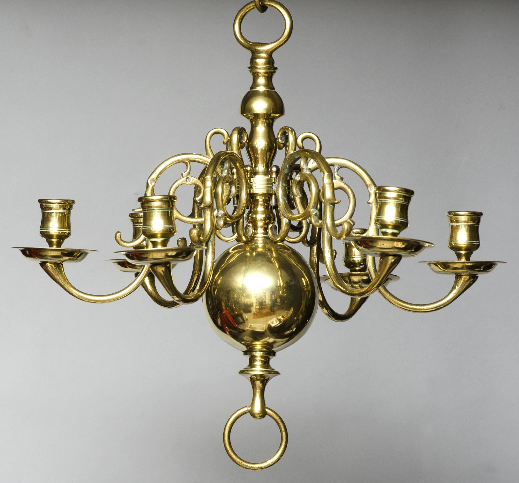 Product » Small Dutch Brass Chandelier With Recent Old Brass Chandelier (View 17 of 20)