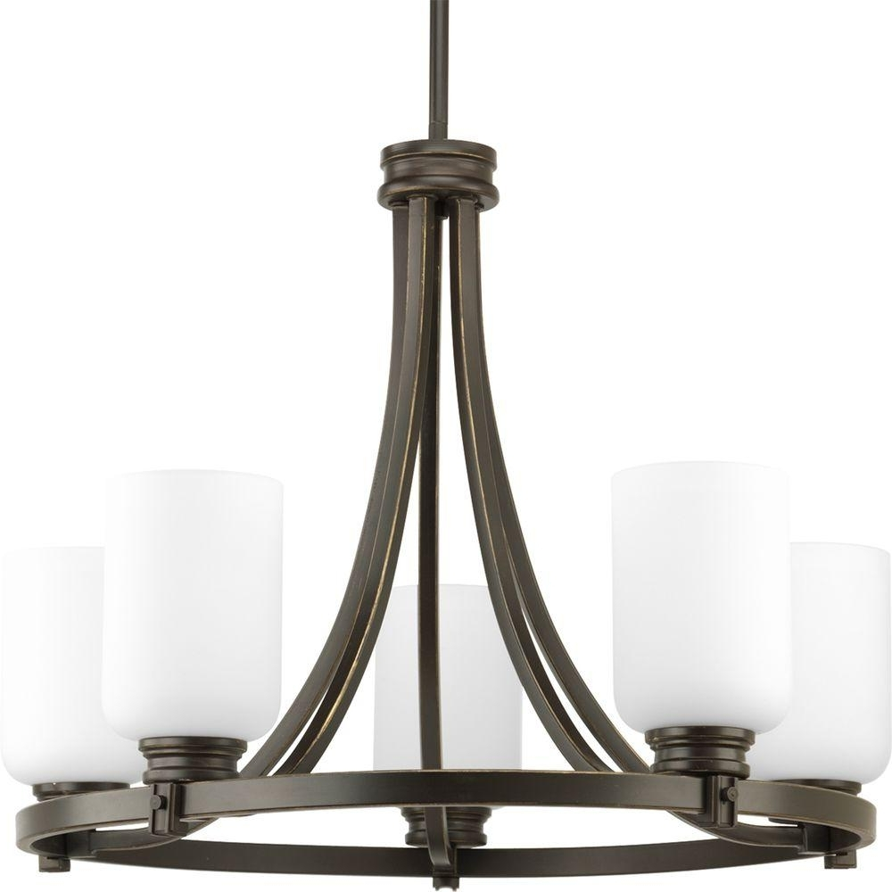Progress Lighting Trinity Collection 5 Light Antique Bronze In Most Popular Bronze Modern Chandelier (View 18 of 20)