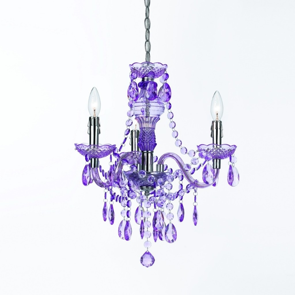 Purple Crystal Chandelier – Chandelier Designs Inside Widely Used Purple Crystal Chandeliers (View 12 of 20)