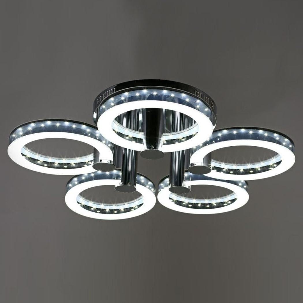 Rakuten: Led Acrylic Chandeliers Ceiling Light Lamp With 5 Regarding Acrylic Chandeliers (View 18 of 20)