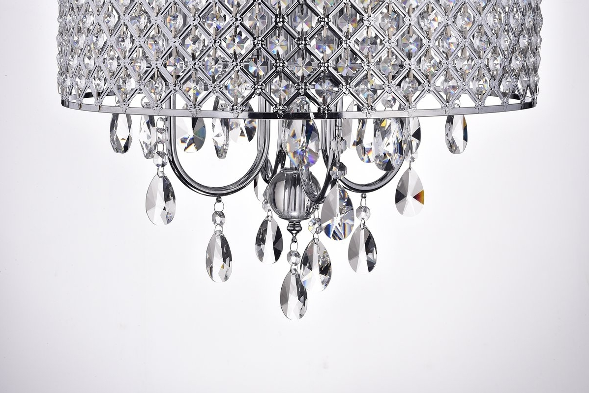 Recent 4 Light Crystal Chandeliers With Regard To House Of Hampton Clemence 4 Light Crystal Chandelier & Reviews (View 10 of 20)