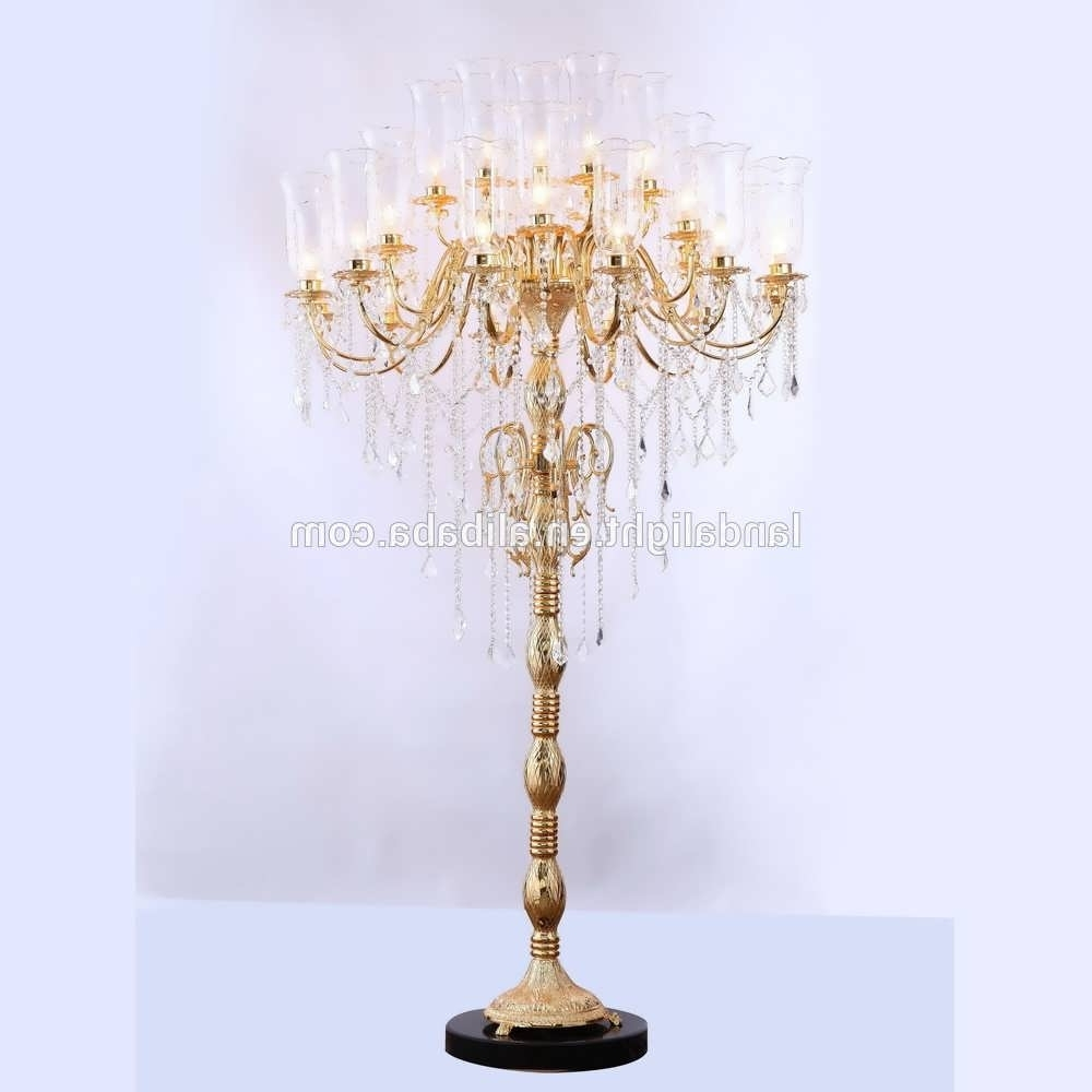 Recent Chandelier : Tall Lamps Floor Standing Lamps Standing Chandelier In Free Standing Chandelier Lamps (View 20 of 20)