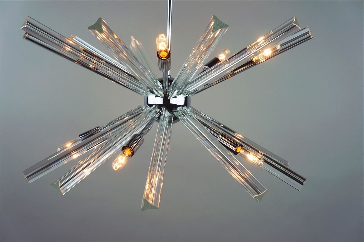 Recent Chrome Sputnik Chandeliers In Sputnik Chandelier Chrome 27'' In Diameter With 20 Crystal Prisms (View 16 of 20)