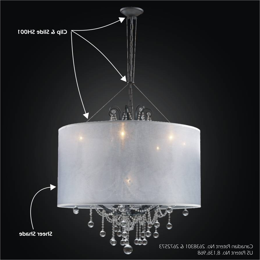 Recent Clip On Chandeliers Intended For Drum Shade Chandelier Clip & Slide Adapter Kit (View 16 of 20)