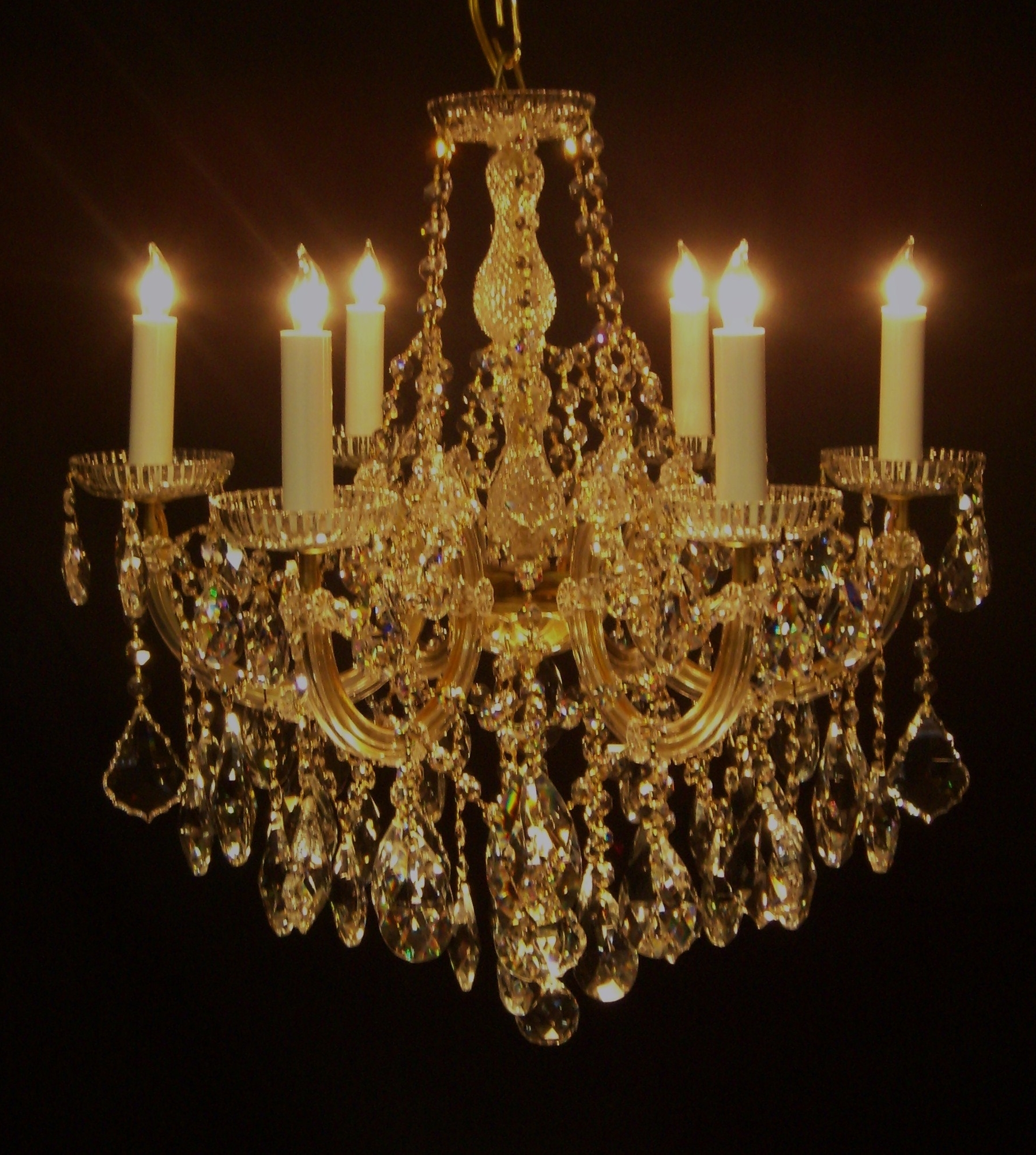 Recent Crystal Gold Chandelier Intended For Chandelier (View 3 of 20)