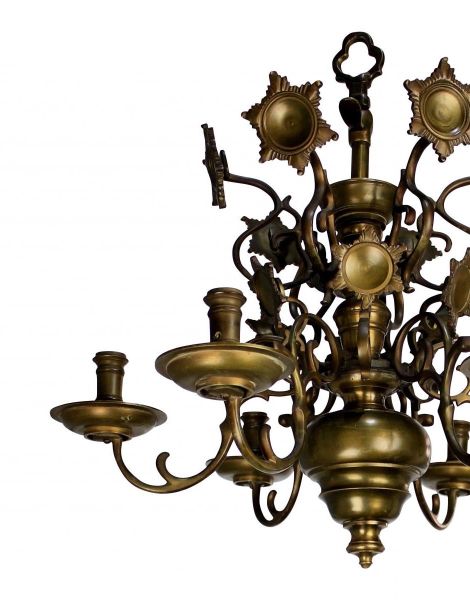 Recent Flemish Brass Chandeliers In Antique Flemish Brass Chandelier, 1840s For Sale At Pamono (View 2 of 20)