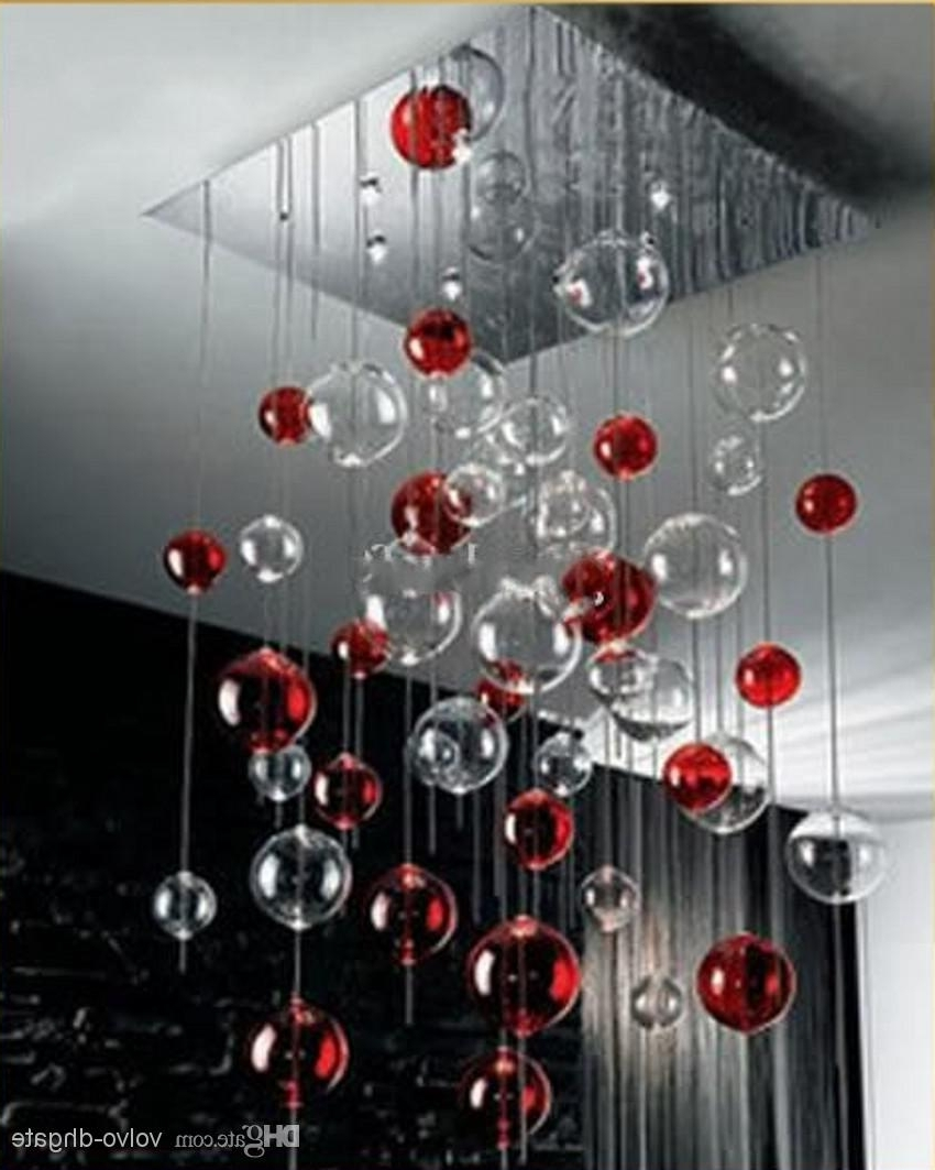 Recent Glass Ball Light Fixture (21) With Modern Red Chandelier (View 8 of 20)