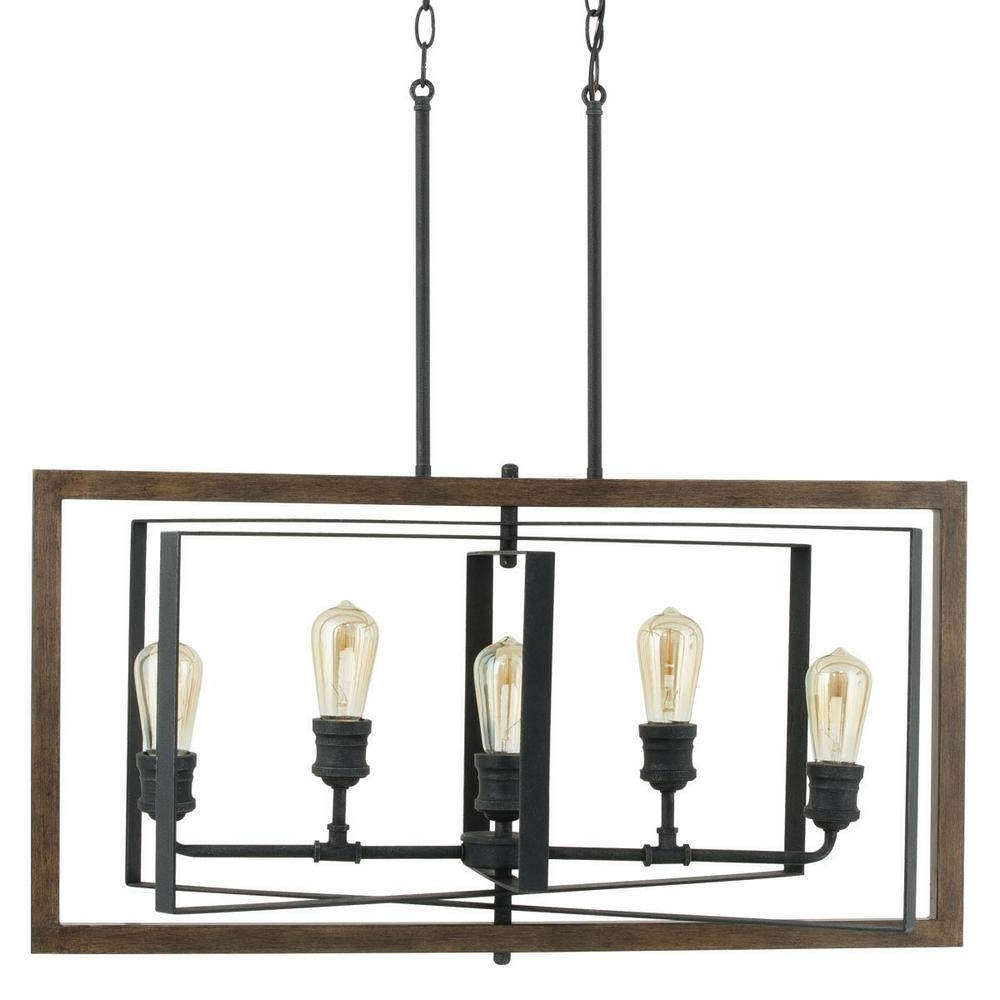 Recent Home Decorators Collection Palermo Grove Collection 5 Light Black Within Iron Chandelier (View 16 of 20)