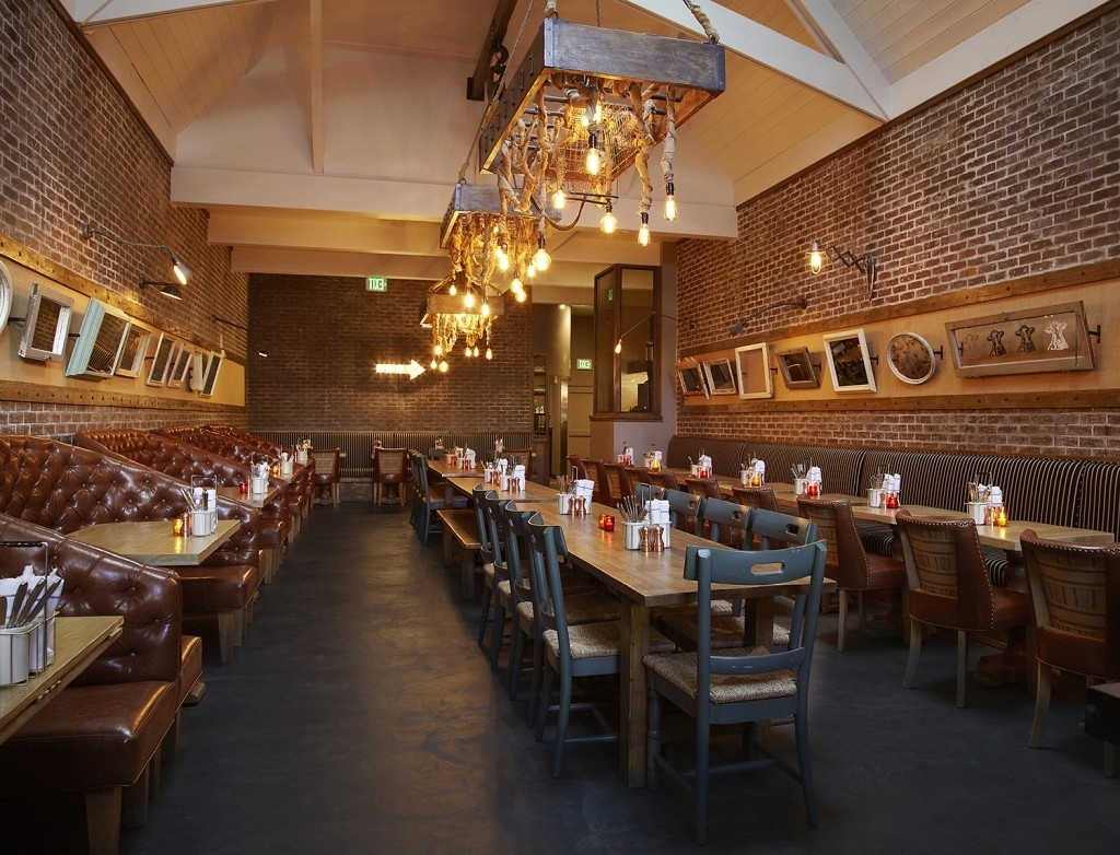 Recent Industrial Pendant, Vintage Light Bulbs Grace New La Eatery (View 12 of 20)