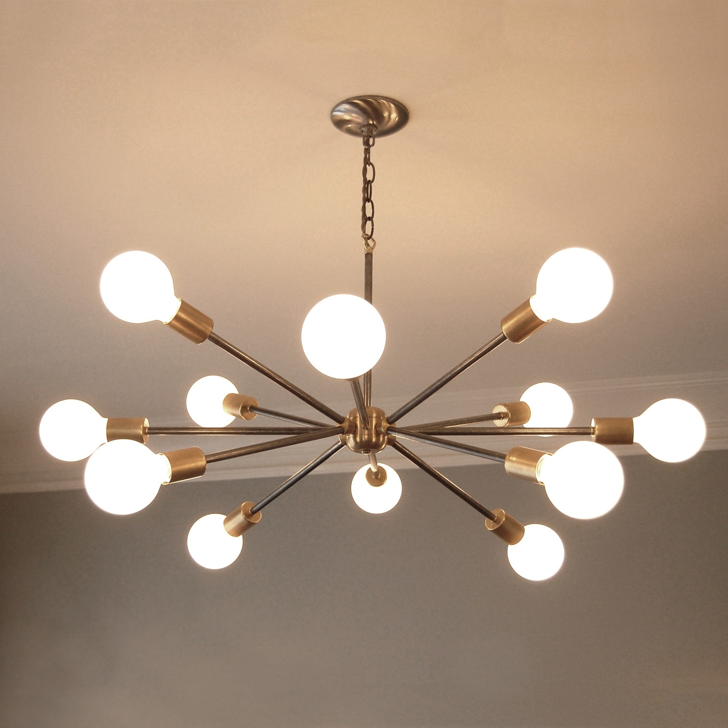 Recent Modern Chandeliers Throughout Creative Mid Century Modern Chandeliers On Home Interior Remodel (View 10 of 20)