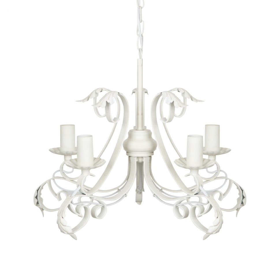 Recent Modern White Chandelier For Chandeliers Design : Wonderful White Distressed Chandelier Awesome (View 19 of 20)