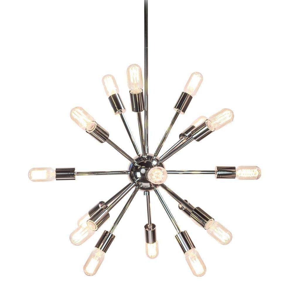 Recent Sputnik – Chandeliers – Lighting – The Home Depot Regarding Chrome Sputnik Chandeliers (View 8 of 20)