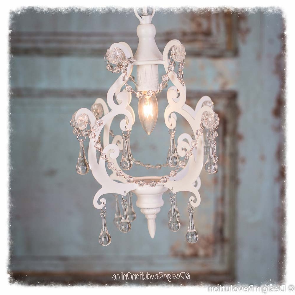 Recent Unique Photography Studio Prop: Shabby White Chandelier In Shabby Chic Chandeliers (View 15 of 20)