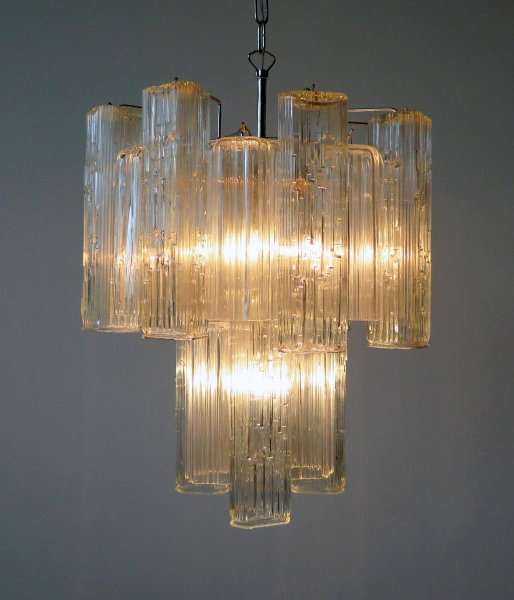 Recent Vintage Murano Glass Chandelier From Murano For Sale At Pamono Regarding Glass Chandelier (View 16 of 20)