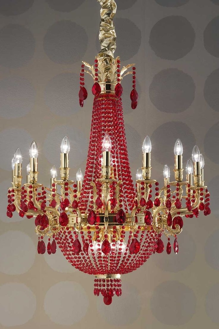 Red Chandeliers For Latest 1409 Best Chandeliers And Lamps Images On Pinterest (View 18 of 20)