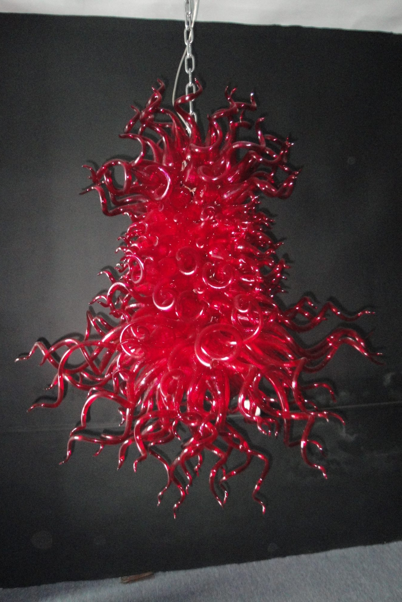 Red Chandeliers Regarding Favorite Of Customized Selling Various Places Modern Red Bright Blown Glass (View 10 of 20)