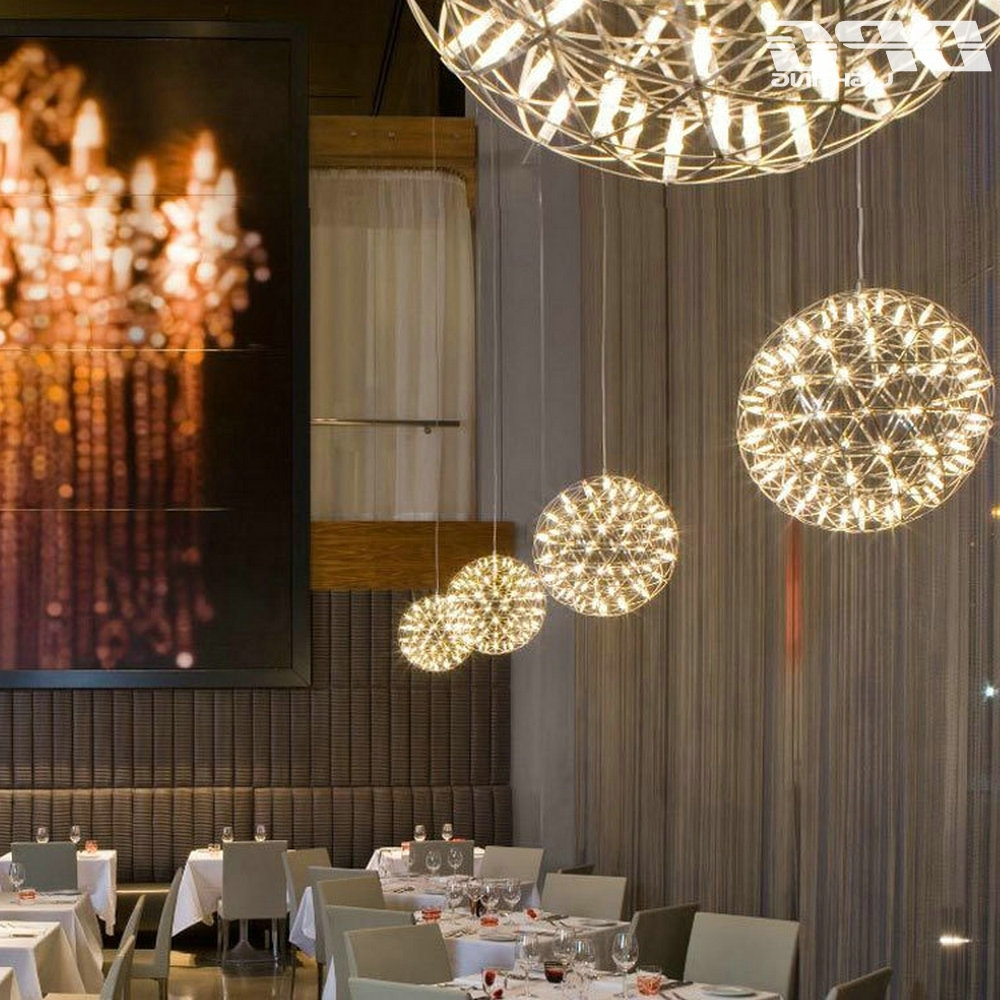 Restaurant Chandelier In Most Up To Date Led Creative Personality Restaurant Chandelier Led Chandelier Ball (View 12 of 20)