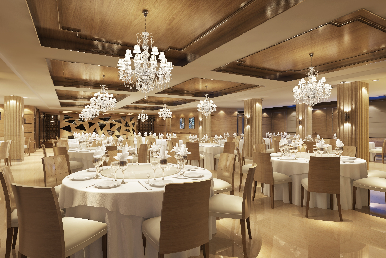 Restaurant Chandelier Inside Latest Light : Brilliant Classy Restaurant With Posh Chandeliers Model Max (View 13 of 20)