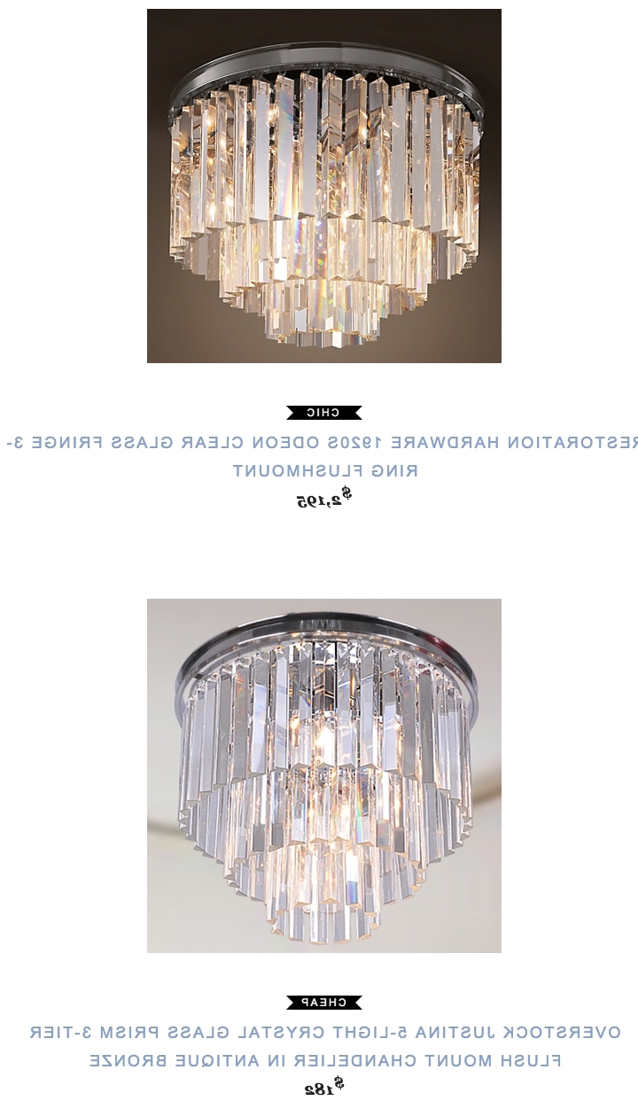 Restoration Hardware 1920S Odeon Clear Glass Fringe 3 Ring With Most Up To Date 3 Tier Crystal Chandelier (View 19 of 20)