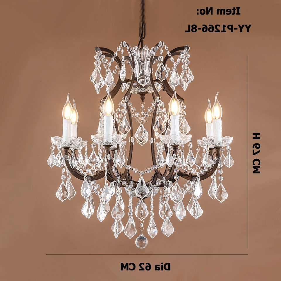 Retro Antique Crystal Drops Chandeliers Restoration Hardware With Current Retro Chandeliers (View 10 of 20)