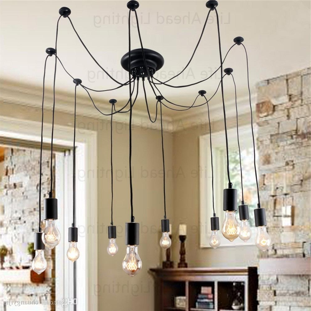 Retro Chandeliers Regarding Most Up To Date Bulb Included Edison Retro Artistic Chandeliers With 10 Lights (View 19 of 20)