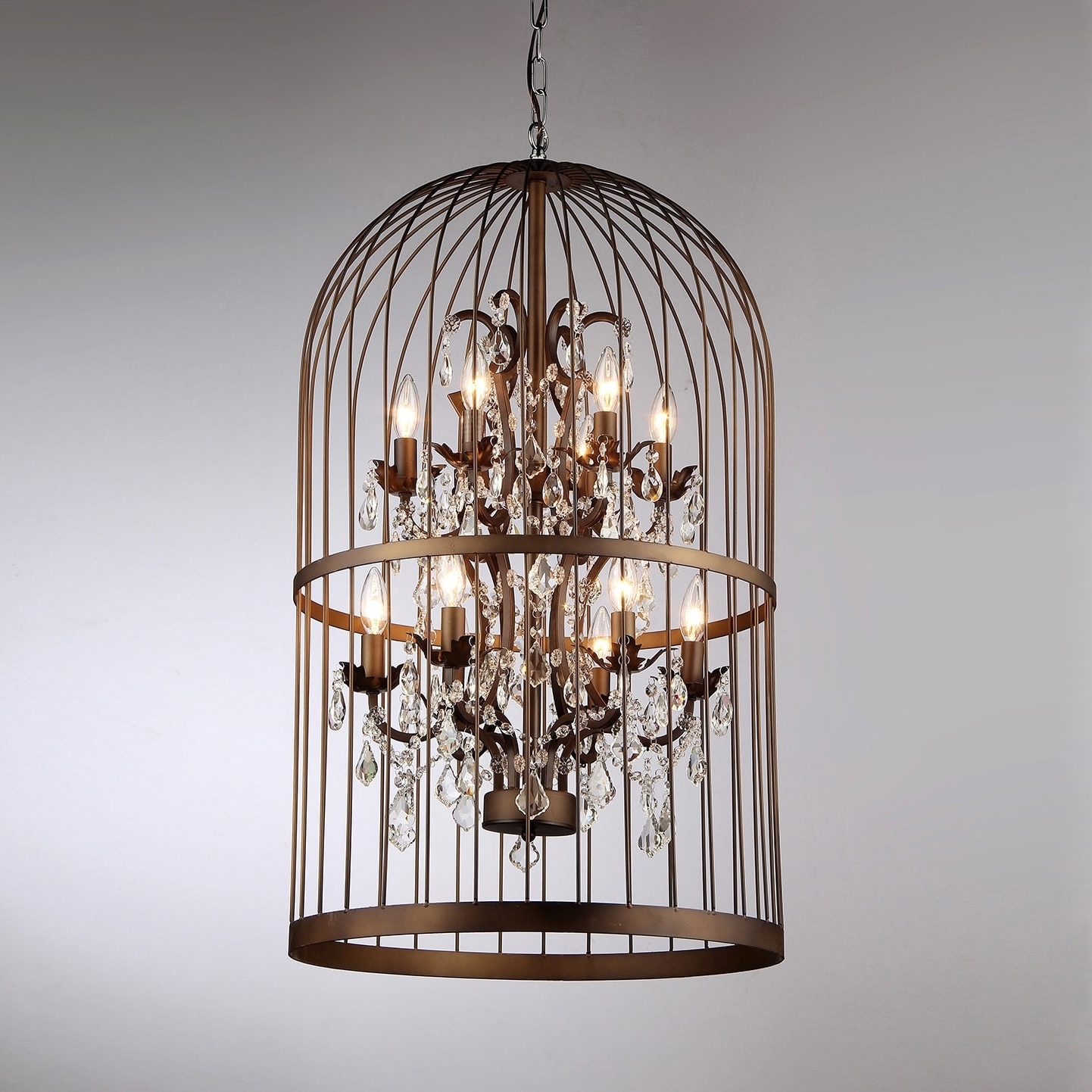 Rinee Cage Chandelier – Free Shipping Today – Overstock – 16585997 Within Favorite Cage Chandeliers (View 17 of 20)