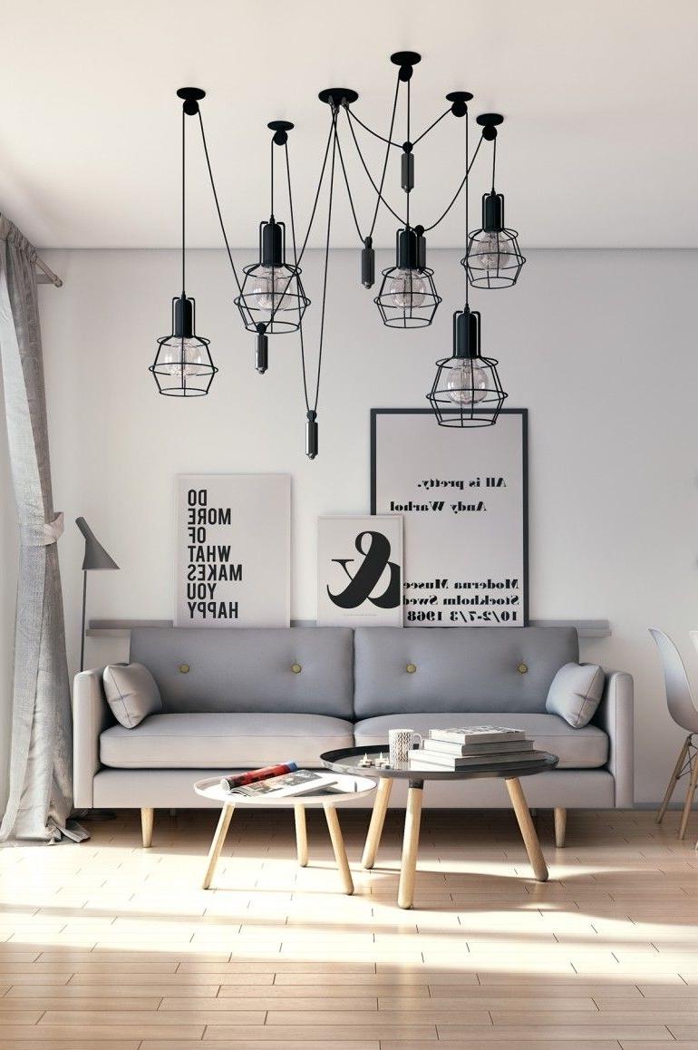 Scandinavian Chandeliers With Preferred Scandinavian Living Room (View 14 of 20)