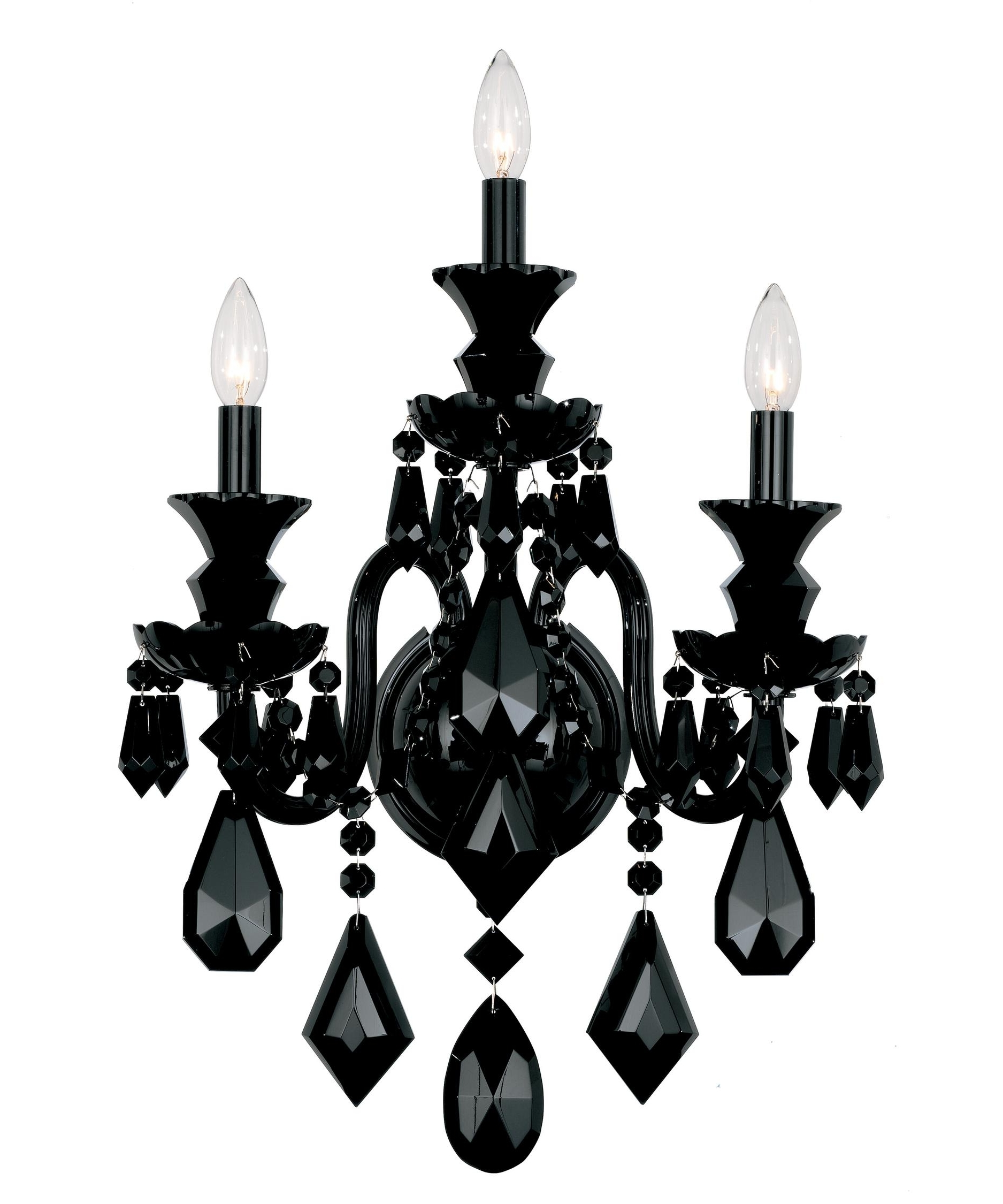 Schonbek 5703Bk Hamilton Black 15 Inch Wide Wall Sconce (View 18 of 20)