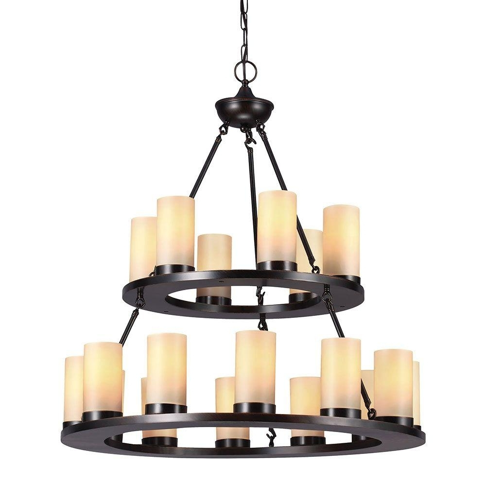 Sea Gull Lighting Ellington 18 Light Burnt Sienna Round Chandelier For Most Current Candle Chandelier (View 15 of 20)