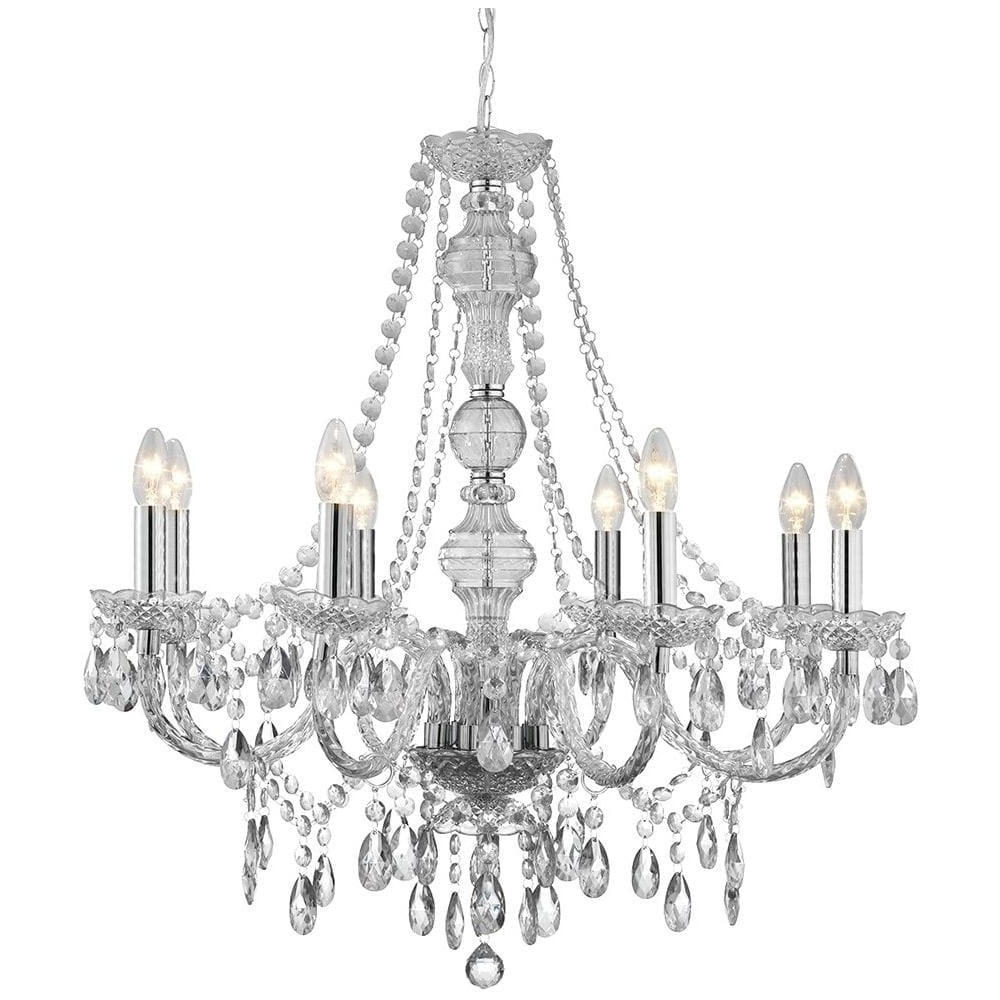 Searchlight Marie Therese 8 Light Clear Acrylic Chandelier – 8888 Intended For 2019 Acrylic Chandelier Lighting (View 17 of 20)
