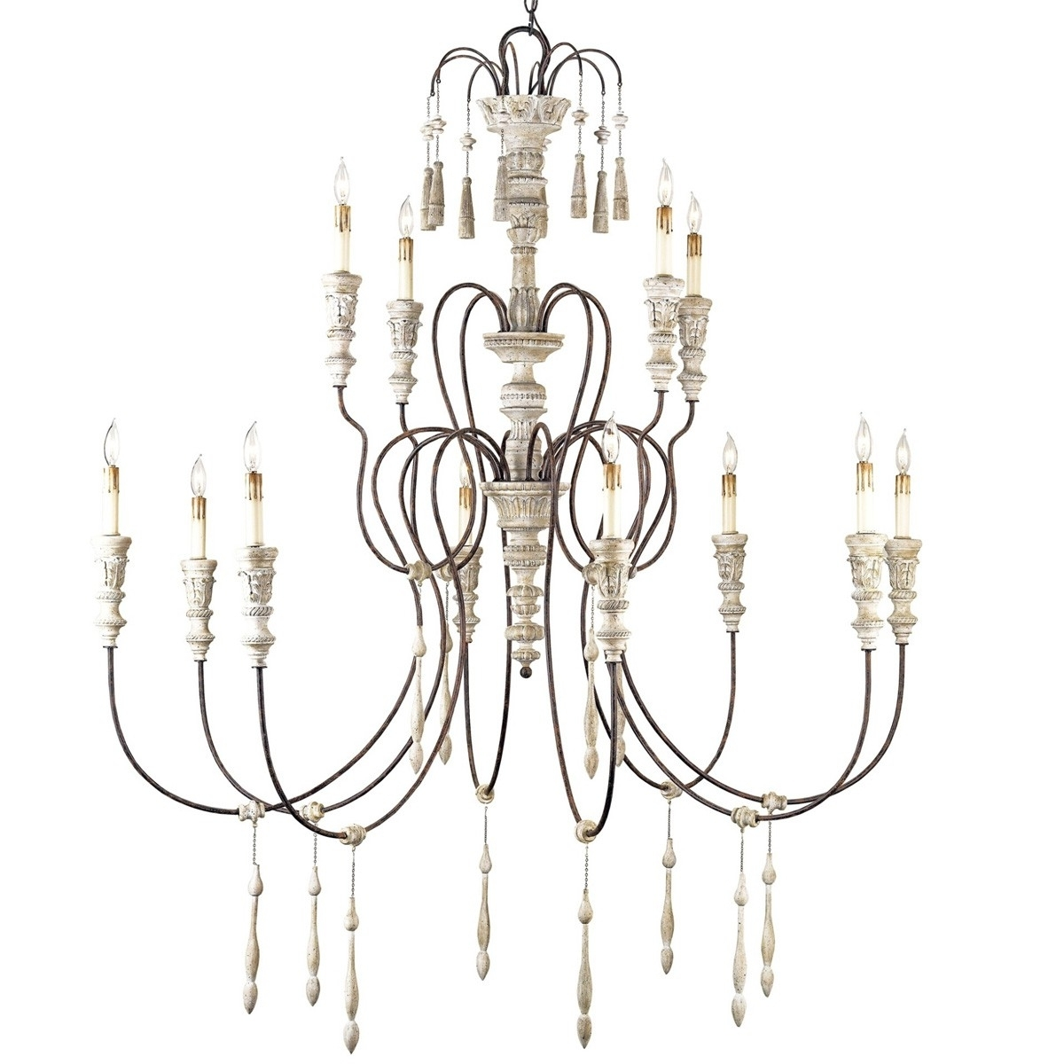 Shabby Chic Chandeliers Pertaining To Preferred Large French Shabby Chic Chandelier (View 19 of 20)