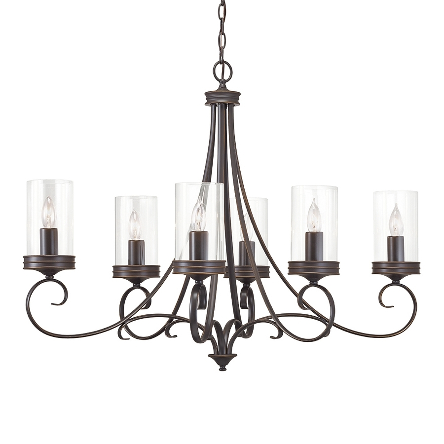 Shop Chandeliers At Lowes In Well Known Candle Look Chandeliers (View 5 of 20)